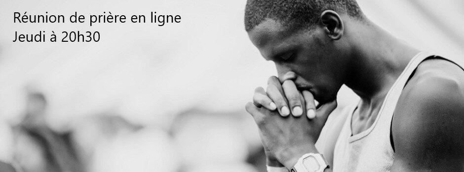 Réunion de prière en ligne